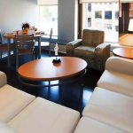 Ann Arbor student housing - Luxury apartment living room