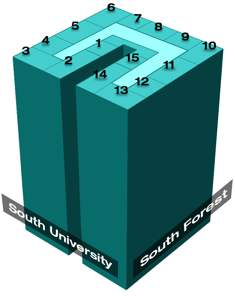 Ann Arbor Housing Diagram Image - University Towers